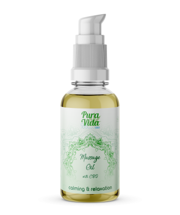 Pura Vida CBD Massage Oil Calming