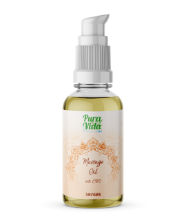 Pura Vida CBD Massage Oil Senses (sugar & spice)