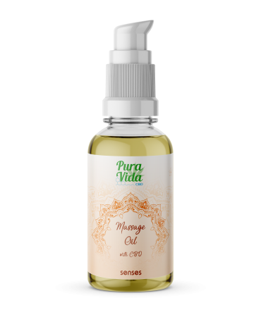Pura Vida CBD Massage Oil Senses (sugar & spice)