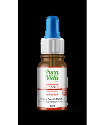 CBD Hemp Oil 15% THC Free 7,5% CBD