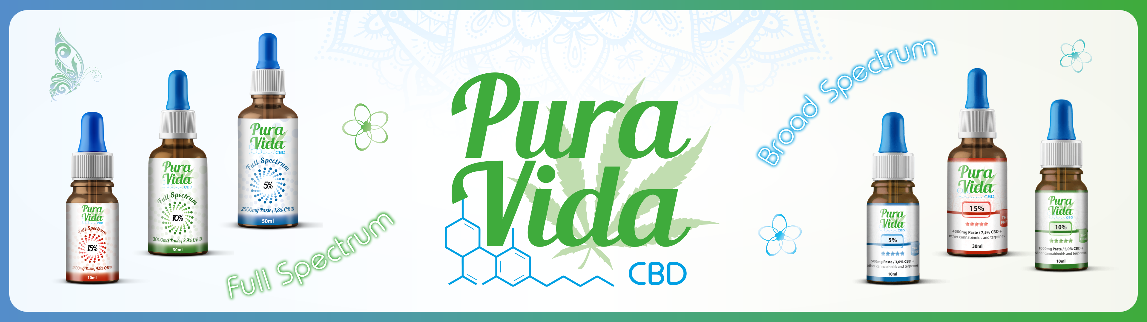 Pura Vida CBD Full Spectrum CBD Oil